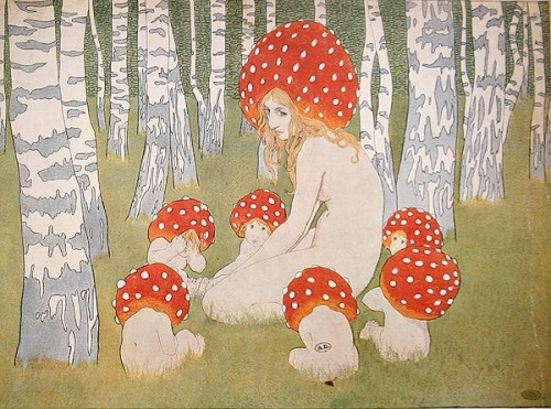 carnetimaginaire:  Edward Okun (1872-1945), Mushroom family