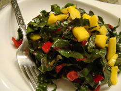 Kale Salad with Mango in Lime Vinaigrette by Vegan Feast Catering on Flickr.