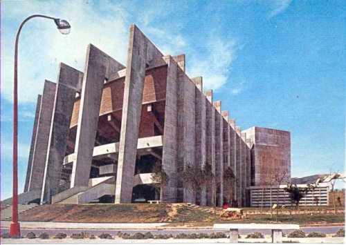 brutalistrevival:  Paraninfo Universidad Laboral de Cheste, Valencia, Spain. 1969 Fernando Moreno Barberá  View this on the map