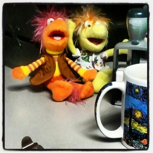 My Fraggle Rock work buddies Gobo and Wembley. Thank you Mr. Henson!  #Henson #muppets