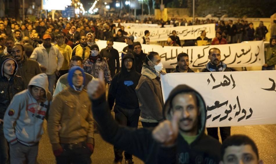 """Protests have erupted in three Egyptian cities where President Mohammed Mursi declared a state of emergency and imposed night curfew."" http://www.ibtimes.co.uk/articles/428887/20130129/egypt-protests-mursi-port-suez-curfew-ismailia.htm"