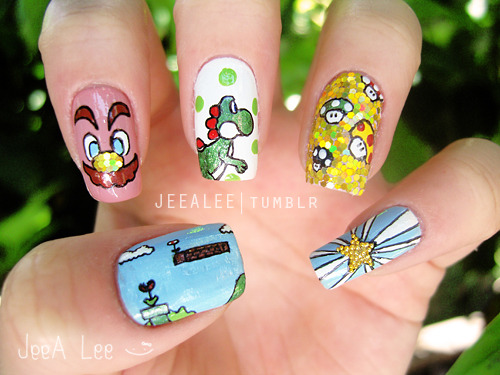 jeealee:  Super Mario Bros. Nails