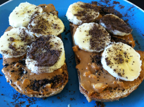 Yes, I did put cocoa powder on my peanut butter banana toast. Can't be tamed.