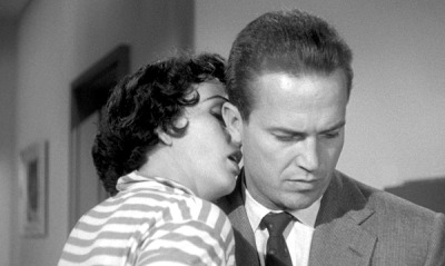 "KISS ME DEADLY (1955)  Mike Hammer: ""You're never around when I need you.""  Velda: ""You never need me when I'm around."""