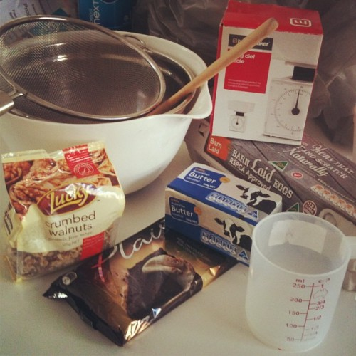 Dusting off me old baking kit to make some brownies for a  party. I love b'days! Hope I don't mess this up! #homecooking #prechaos #brownies #melbourne