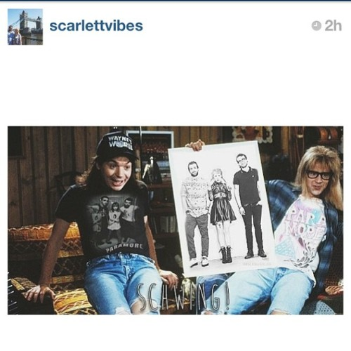 Regram from @scarlettvibes This has to be the best pic ever on Instagram. @yelyahwilliams has to check this out! #paramore #WaynesWorld #hayleywilliams