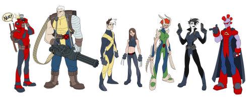 brianmichaelbendis:  X-Men designs by MatthewRHumphreys