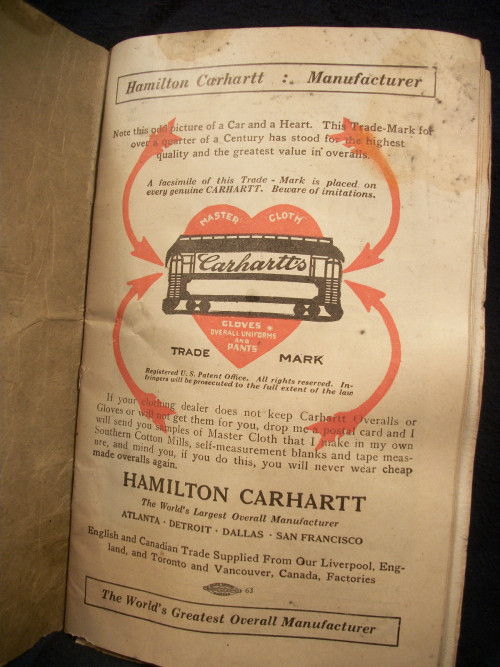 Hamilton Carhartt : Manufacturer The Worlds Greatest Overall Manufacturer