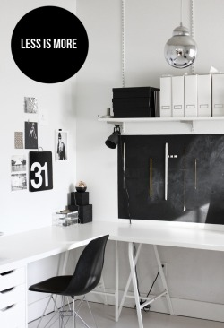 myidealhome:   less is more (via Home Office | pinterest)