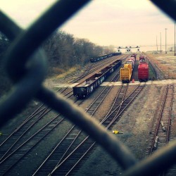 """65th Street Railyard"" #LIRR #BayRidgeBranch #SunsetPark #BayRidge #Brooklyn #abrooklynsoul #brooklynpoets #Railyard #TrainTracks #ChainLink #Fences #UrbanLandscape #UrbanDwellings #NYC #NewYork #NewYorkCity #explore_brooklyn #explore_community #explore_nyc #Waterfront  (at 65th Street Yard)"