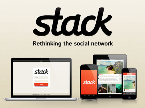 stackfm:  stack is a free social network that lets you decide how public or private you want to be. We don't data-mine your content or censor you above the law. We've based our platform on the most popular features of the existing networks, and built them around a system that lets you decide how you want to use it. We respect your right to freedom of expression, privacy, and control. How and what you want to share should always be your choice, and with stack, it is. We're crowdfunding to finish building very very soon! Follow us on tumblr Follow us on twitter  A social networking site where you to retain ownership of your content, that promises default privacy, that does not track or data-mine or censor random content, AND it's Michael Gira approved?!  This looks promising.