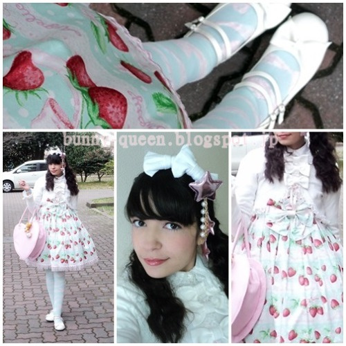 Sweet lolita coord for shopping day in harajuku n_ncardigan, OP, socks, Angelic pretty,