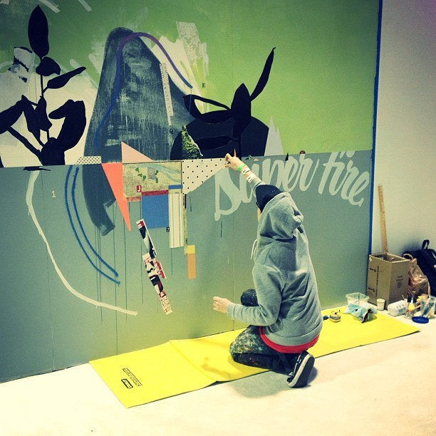 """. @scottsueme painting at Agenda's Basecamp by Flexfit"" by highsnobiety - http://instagr.am/p/UH-VngpIYR/"