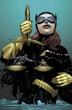 fyeahbatgirl:  BATMAN AND BATGIRL #21 Written by PETER J. TOMASI Art and cover by PATRICK GLEASON and MICK GRAY On sale JUNE 19 • 32 pg, FC, $2.99 US • RATED T What deal would you make to bring someone back from the dead? And in this issue, it's Batman vs. Batgirl!  This cover art (by the fantastic Patrick Gleason) is actually pretty awesome! I like the subject matter, I like the insinuation about using the Lazarus Pit and Babs as Lady Justice …plus Batgirl written by Tomasi and not Gail Simone? I might actually pick this one up. Damian! <wails> What is Daddy!Bruce going to do?
