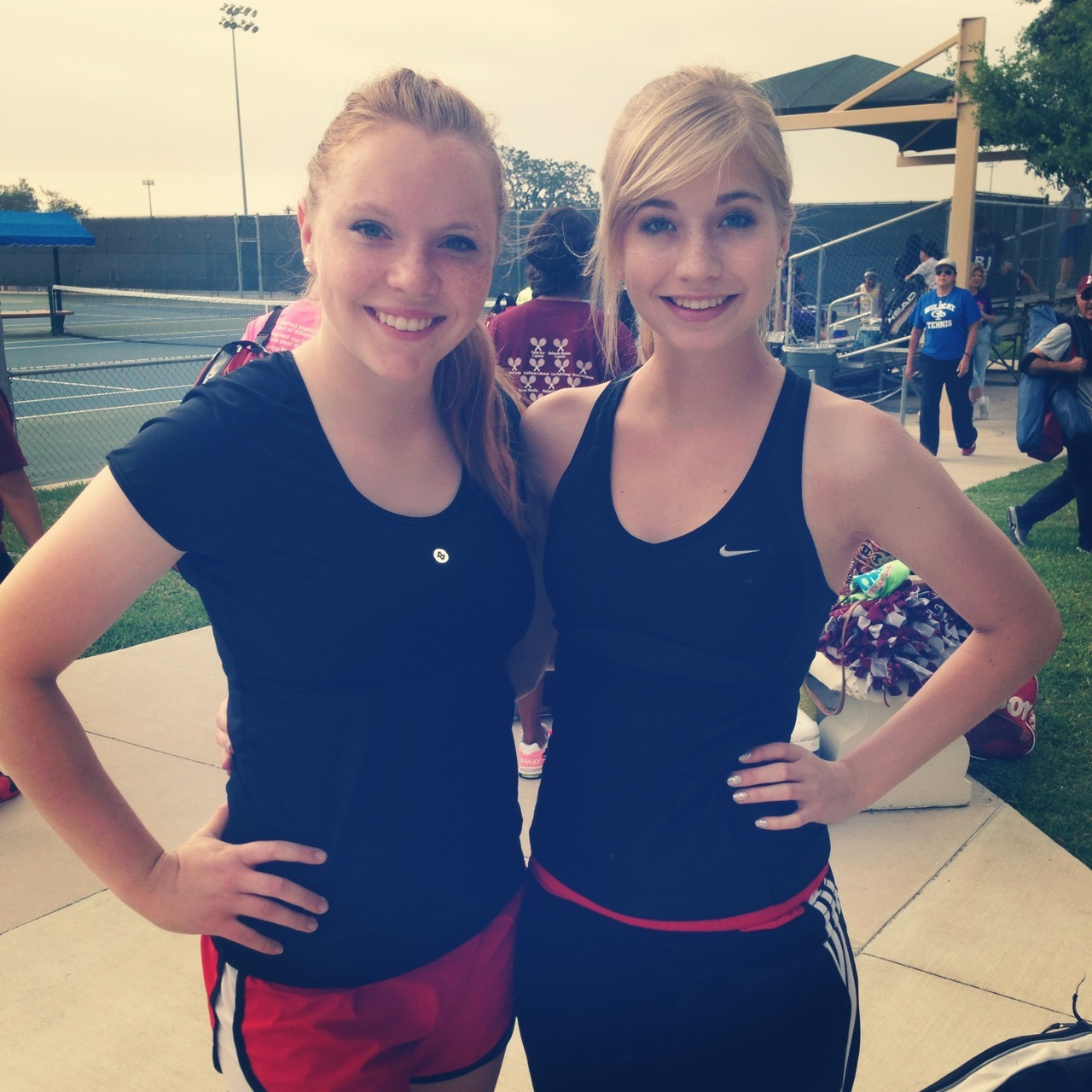 My doubles partner and I at regionals :)