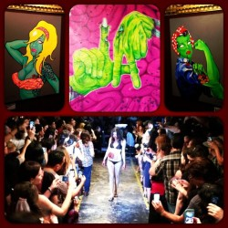 Zombie Fashion Show & Creature Art Exhibit. #zombies #fashionshow #walkingdead  (at The Alexandria Hotel)