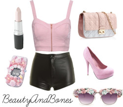 Princess by beautyyandbones featuring disco shortsJane Norman bralet top, $31 / Disco shorts / Platform pumps / Handmade Medium Hitokuchi Strawberry Milk Whipped Cream, $4.45