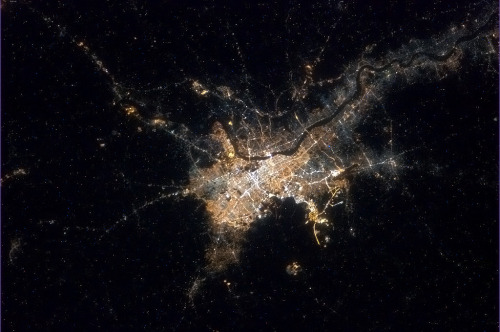 Kolkata, India - at night, definitely not the 'Black Hole of Calcutta' of legend. After many passes, a clear view.