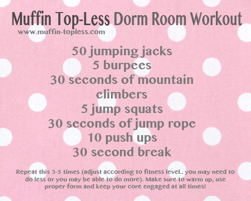 muffintop-less:  Need to workout, but can't get to the gym? Give this a try! =)