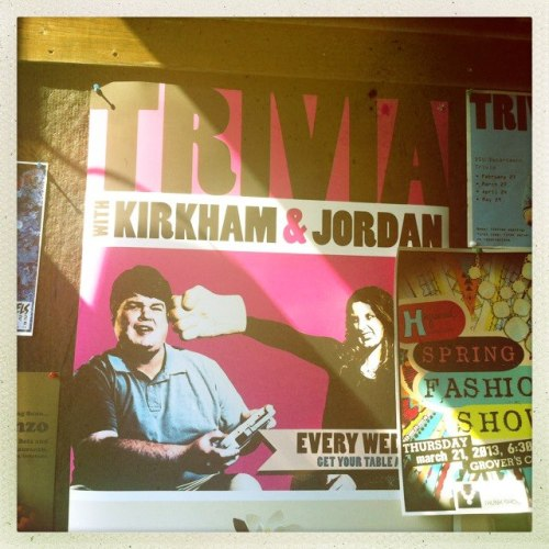TONIGHT AT HEY JOE'S—DSU Department Trivia with Kirkham and Jordan at 8pm! Gather up a team and come early to get a table. …and while you're here, have an Abita Strawberry!