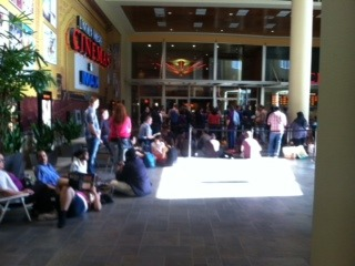 May 8th: This was a line for a Star Trek Into Darkness preview I didn't get into. Because of Bellevue. Fuck you Bellevue! (It was 3D and I didn't know that until they were handing out glasses in line so whatever, it's cool, that would have been uncomfortable. I'll see it in IMAX!)