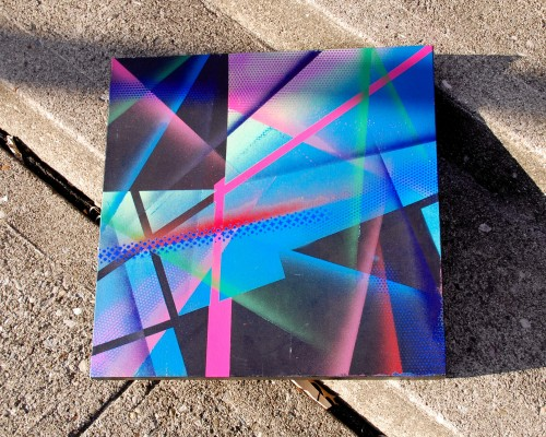 a few in a series of aerosol abstract paintings that are roughly 24 x 24 on canvas. coreroc 12/2012