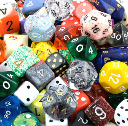 dragonsorcsandgeeks:  Random dice pic of the week…