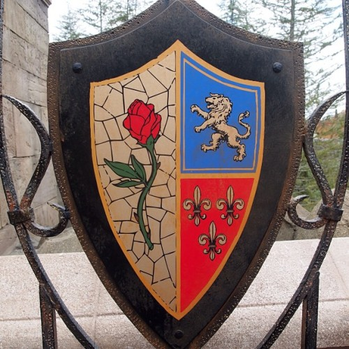 Beasts crest #beastscastle #beautyandthebeast #beourguestrestaurant #beastscrest #enchantedrose  (at Be Our Guest Restaurant)