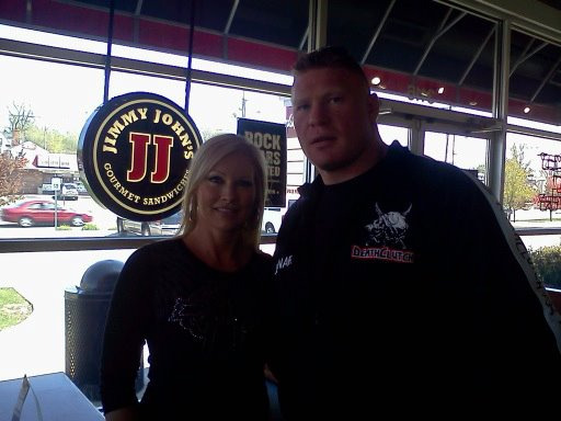 Brock Lesnar and Sable at Jimmy John's