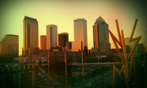 kissyfur19:  Our beautiful Tampa skyline from the party deck of the Forum!
