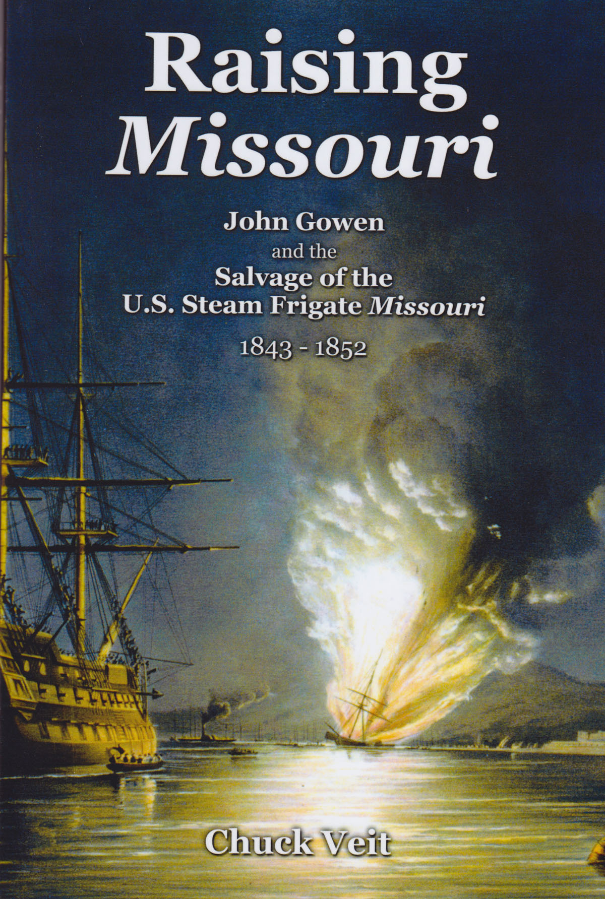 BOOK REVIEW – Raising Missouri  By Chuck Veit, Lulu.com, Raleigh, NC. (2012) Reviewed by David Kronenfeld Chuck Veit in Raising Missouri has put together a tidy little volume detailing a little known footnote of American naval history – the sinking and salvage of USS Missouri. This is Veit's third book and continues in the vein of his focus on 19th century American naval history. Veit utilized the self-publication platform Lulu.com to bring this work to fruition. Without self-publication venues such as Lulu.com such a book might not have been brought into print and Veit should be commended for using Lulu to bring an obscure, but notable event to the reading public. (read the full review)
