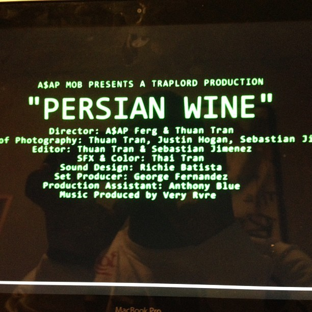 PERSIAN WINE AKA VIDEO OF THE YEAR COMING SOON!!