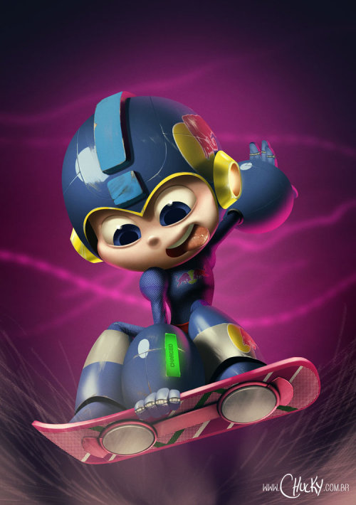 insanelygaming:  Megaman Created by Ricardo Chucky