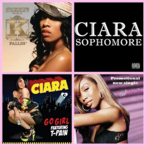 callmealeena:  Some of the records that I Co-wrote on #KMichelle - Fallin, #Ciara - Go Girl, #Brandy - List, and this july cop #Ciara's album and support me I co-wrote track #2 #sophomore