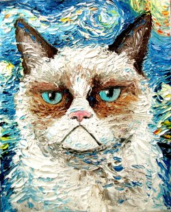 Grumpy Cat Portraiture by Sagittarius Gallery posted by ianbrooks.me