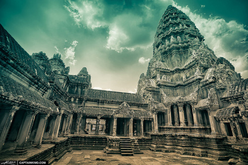 Ancient-Angkor-Wat-Temple-in-Siem-Reap-Cambodia by Captain Kimo on Flickr.