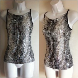 Order #134 Pre-Owned Sequined Animal Printed Tank Top Perfect night life party top!  Size: M $4  A complete form must be sent to me.  Order Form: Name: Contact no.: Shipping Address: Order #: Item name: Payment Option (Paypal/Cash): NO CANCELLATION OF ORDERS!   #shirt #club #clubbing #party #hipster #glam #glitter #shop #sale #giveaway #snakeskin #summer #fashion