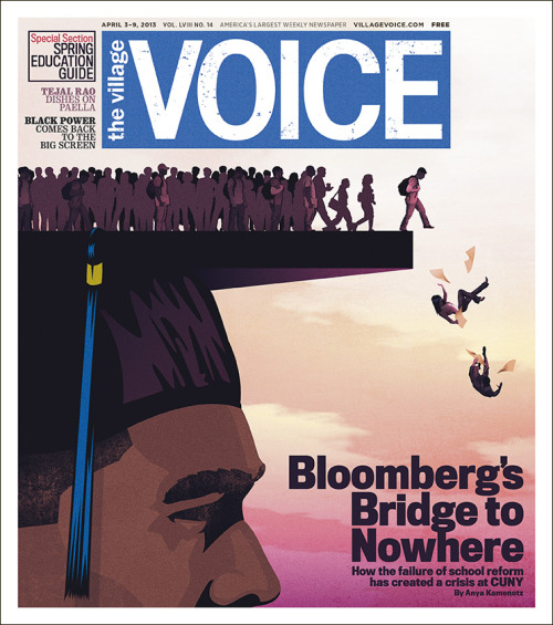 villagevoice:  This week's cover story, System Failure: The Collapse of Public Education: From our high schools to CUNY, New York City's numbers are in—and they are terrifying.  Maybe if the NYPD stopped terrorizing children with darker pigmentation they'd focus more on school and learning and critical thought.
