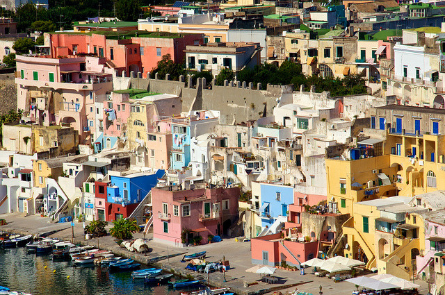 | ♕ |  Procida - colors of Corricella | by © Fernando W