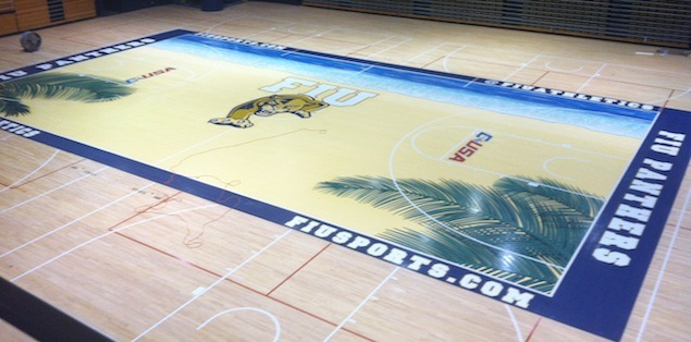 Florida International has a BIZARRE new court.