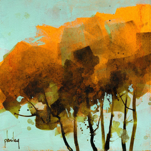 the-absolute-best-posts:  paulbaileyart: Seven trees5 x 5 inches2012