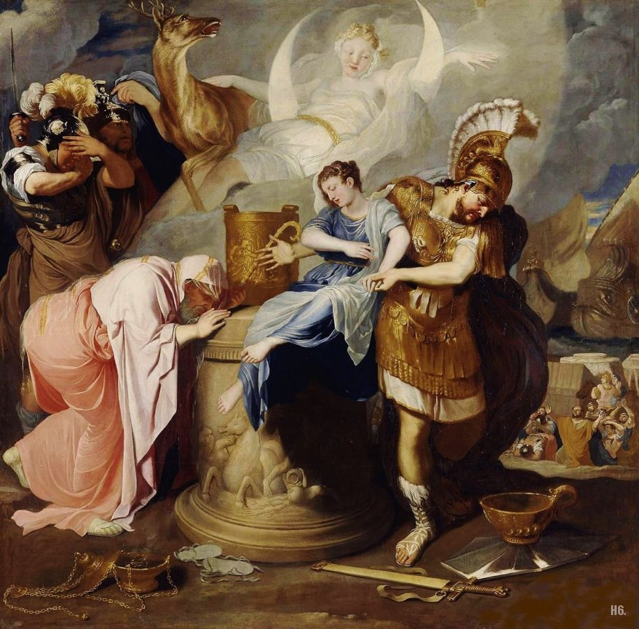 The sacrifice of Iphigenia. 1646-47. Bertholet Flemalle. Belgian. 1614-1675. oil on canvas.         http://hadrian6.tumblr.com