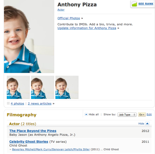 THIS IS A BABY NAMED TONY PIZZA, WHOSE FULL NAME IS ANTHONY ANGELO PIZZA JUNIOR CHILD GHOST TONY PIZZA