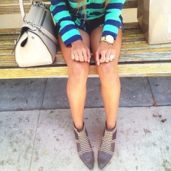Wearing short shorts and my favorite boots by @aninebing ❤  (at Larchmont Bungalow)