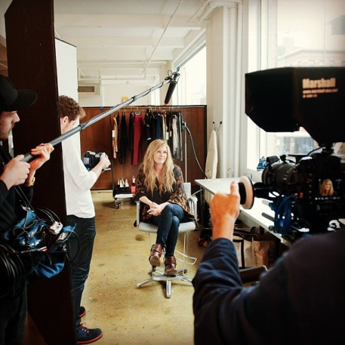 robloudphotos:  Interviewing the awesome  @GracePotter for a little behind the scenes vid. #gracepotter #nocturnals #beauty #makeup #fashion #music #milkstudios (at Milk Studios)