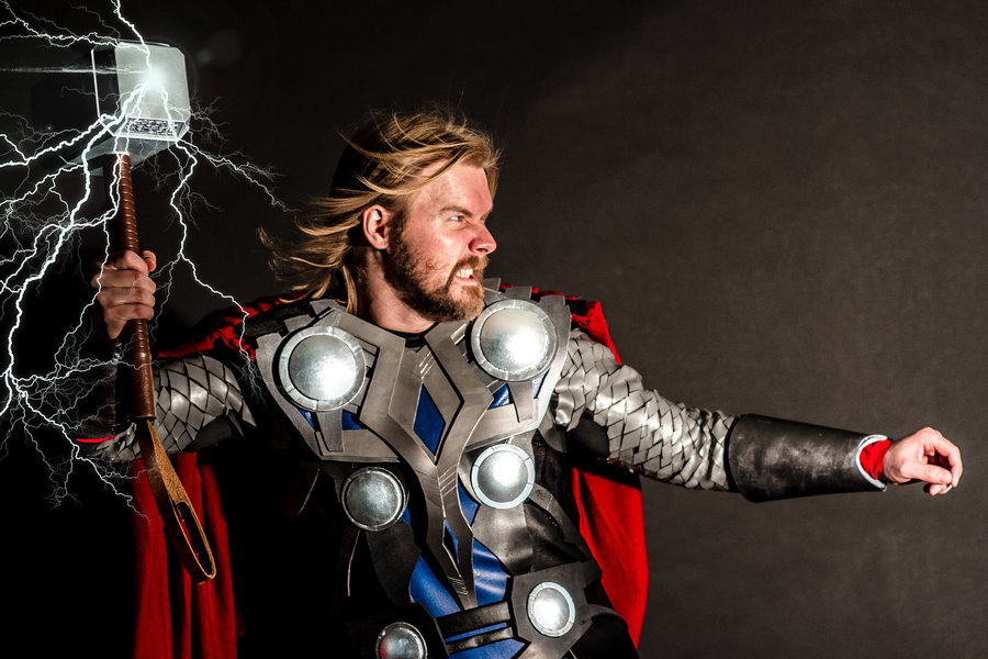 screencrush:  'Thor' Cosplay Cheers to Dusty Lofink for one of the best Thor cosplay we've ever seen! Click through for more amazing photos.