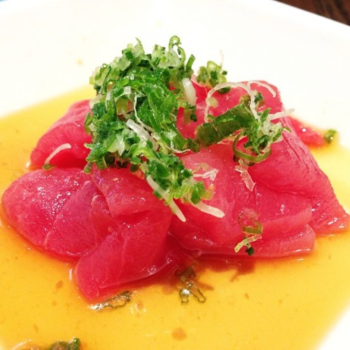 "Yummmm! Tuna with Ponzu at Sugarfish by Nozawa at their new outpost in Beverly Hills. The food and the service was consistent and great as always. Go for the ""Trust Me"" set or ""The Nozawa"" so that you can try the variety of fish that they offer for the day. http://sugarfishsushi.com/beverly-hills ⭐⭐⭐⭐⭐"