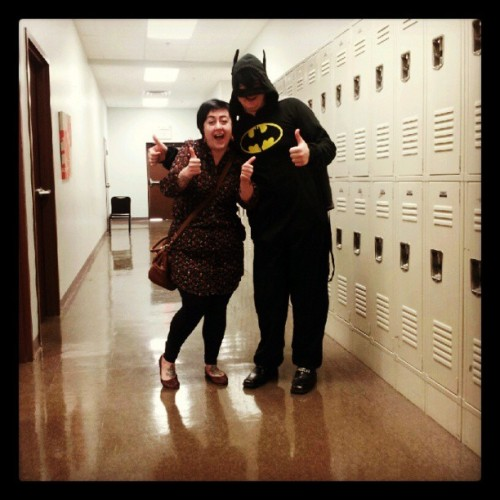 Its normal for teachers to wear batman onsies to school right?