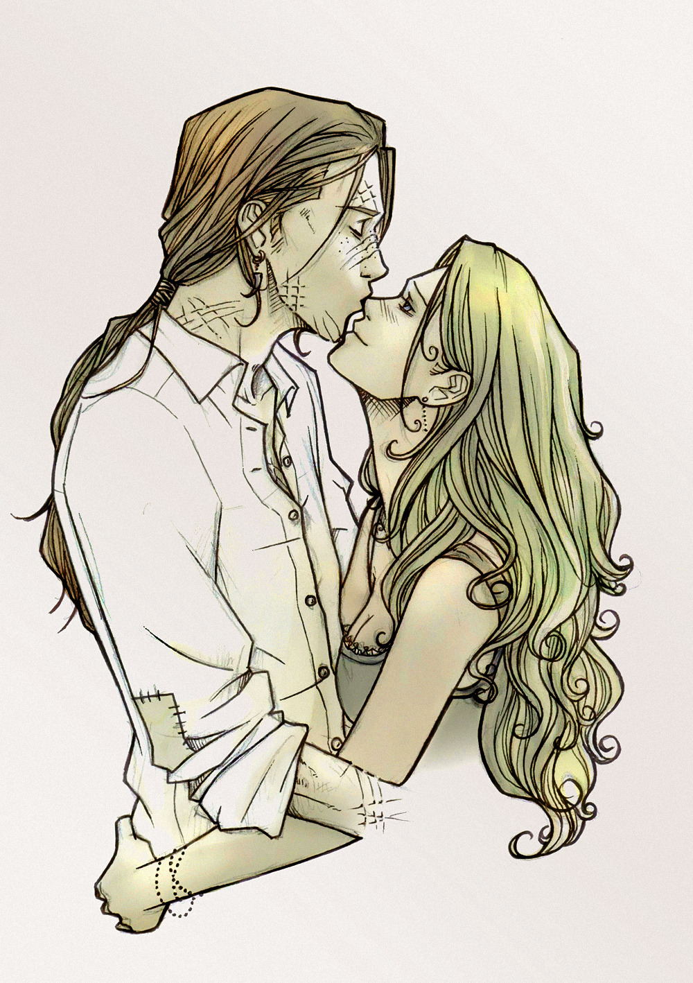 Bill and Fleur - Sweet Kiss by ~nami86