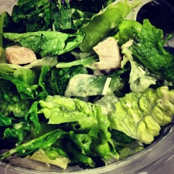 Chicken Caesar salad for lunch. #yum #lunchtime #break #tastey